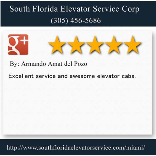 South Florida Elevator Service Corp. 6956 NW 51st ST Miami FL 33166 (305) 456-5686  http://www.southfloridaelevatorservice.com/hialeah/